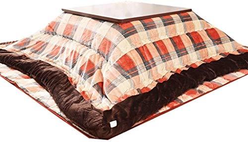 LAZNG Kotatsu Set Tablas de Café Pink Copo de nieve Cuello Caliente Calentador de alfombras Kotatsu Tabla Sólido Madera Sólido Tatami Calefacción Mesa de calefacción Máquina de calentador Must-Tener e