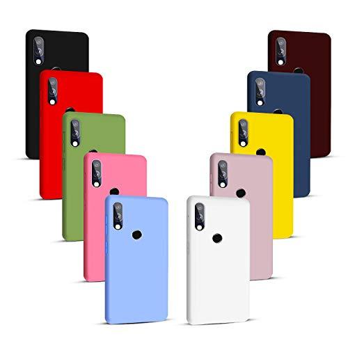 NUDGE 10X Fundas para Samsung Galaxy A40,Carcasa Silicona de Color Sólido Anticaída,Cubierta Flexible Ultrafina a Prueba de Arañazos y Golpes