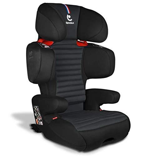 Renolux Softness Renofix Carbon, Kindersitz Gruppe 2/3 (15-36kg), von 3 bis 12 Jahre, mit isofix
