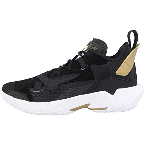 Nike Jordan Why Not ZER0.4, Zapatillas de bsquetbol Hombre, Black White Mtlc Gold, 47 EU