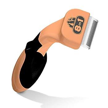 8in1 Brosse Anti-mue - Outil de Toilettage Pour Chats à Poils Longs et Courts - Elimine les Poils et le Sous-poils Morts - Réduit la chute de poils jusqu'à 90%