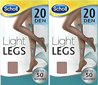Scholl Light Legs Compression Tights 20 Den Nude Large x 2