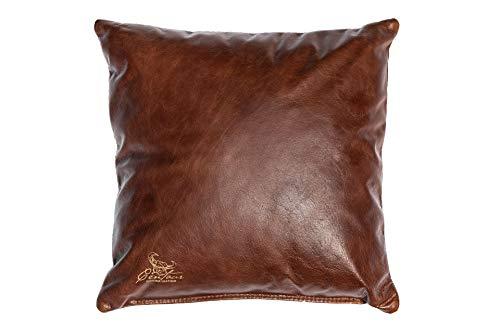 Centaur - Cojines de Cuero Decorativos para el sofá o el Dormitorio 40 x 40cm castaño Claro - Cojines de Cuero Genuino Cojín de sofá de Cuero Genuino Look