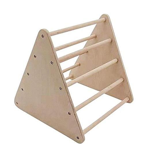 MAMI | Triángulo de Pikler mini para niños | Estructura para escalada de interior | Fabricado en madera natural | Escalera incluida