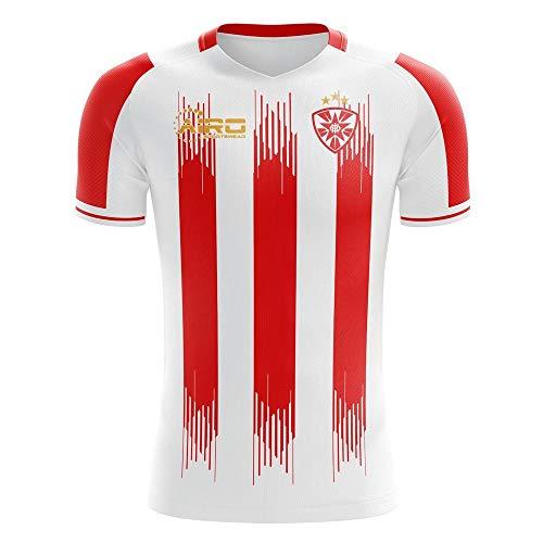 Airosportswear 2020-2021 FK Crvena zvezda Home Concept Football Soccer T-Shirt Trikot - Little Boys