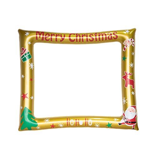 NUOBESTY Kreative Fotorahmen aufblasbare Weihnachten Foto Requisiten Selfie Requisiten Bilderrahmen für Silvester Xmas Party Supplies