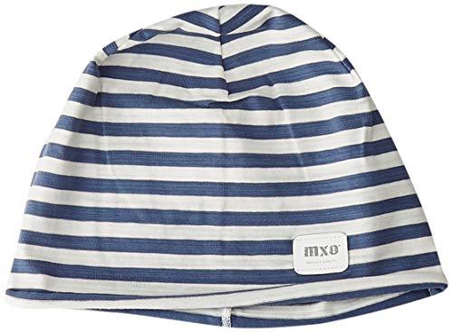 maximo Jungen Beanie, Jersey, Geringelt Mütze, Mehrfarbig (Navy/Wollweiß 4838), 55/57