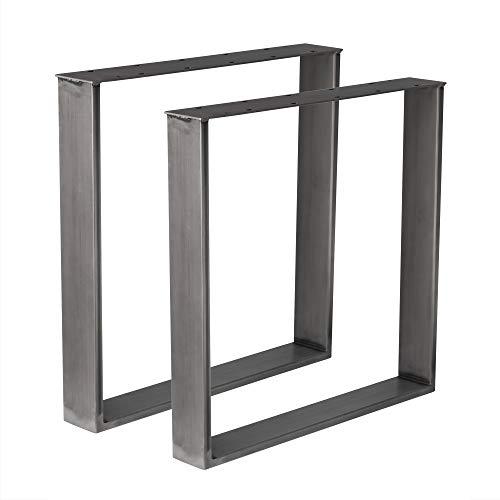 Holzwerk 1 Paar Design Tischgestell Rohstahl Industrielook TUG 206 Tischuntergestell 700x700 mm Tischkufe Kufengestell in versch. Größen Neu und OVP (700x700)