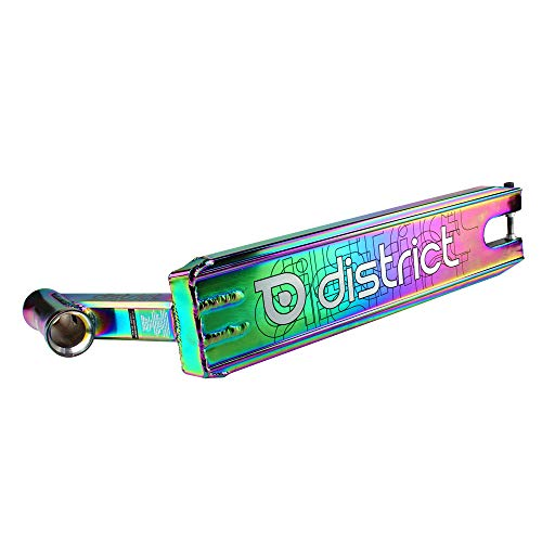 District DK50 Pro Stunt-Scooter Deck 115 mm x 500 mm (Farbe Chrom)