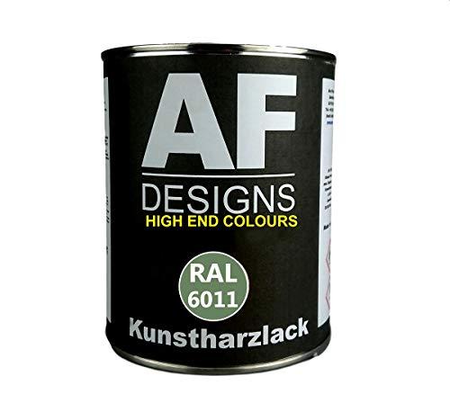 Alex Flittner Designs 1 Liter Kunstharz Lack Buntlack Kunstharzlack RAL6011 RESEDAGRUEN glänzend