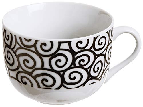Excelsa Magic Black Tazza Jumbo de Porcellana, Multicolore, Modelli Assortiti, 1 pezzo