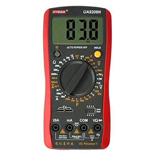 LKK-KK Multímetro digital Digital DC/AC del amperímetro del voltímetro Resistente/condensador/Triodo/Diodo/Temperatura/Frecuencia probador Retención de datos precisos
