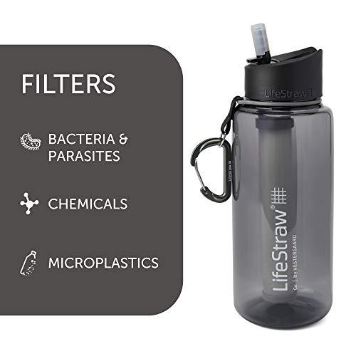 LifeStraw Go 2-Stage Filter Bottle, Unisex, Erwachsene, Grau, 1 l