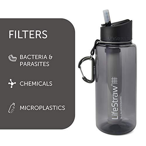 LifeStraw Go 2-Stage Filter Bottle, Unisex, Erwachsene, Grau, 1 l