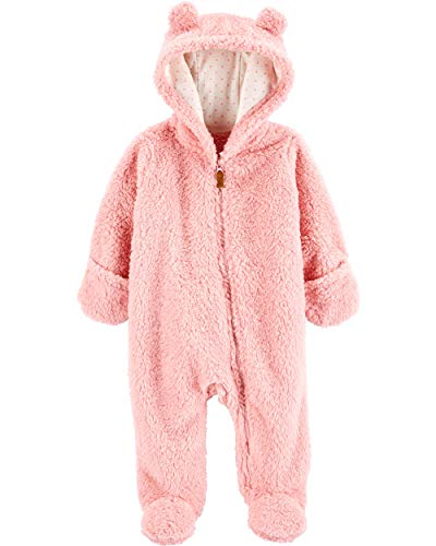 Product Image of the Carter's 0-9 Months Hooded Sherpa Bunting Pram (Pink Sherpa, 6 Months)