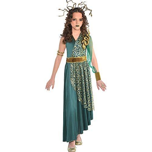 amscan Girls Medusa Costume, Large (12-14)- 2 pcs, Multicolor