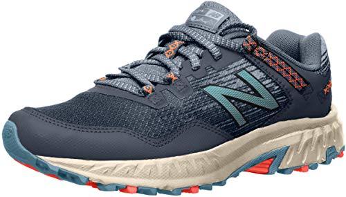 New Balance Women's 410 V6 Trail Running Shoe, Stone Blue/Wax Blue, 9 M US
