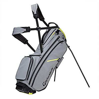 TaylorMade Flextech Crossover Yarn Dye Stand Stand Bag, Silver/Grey/Black