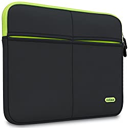 AirCase 15-Inch to 15.6-Inch Laptop Sleeve, Premium , Suave, 6-MultiUtility Pockets (Black),AirCase,AP-MS-208-BLK,laptop cover,laptop cover for 15.6 inches,laptop sleeve,laptop sleeve 14 inch,laptop sleeve 15.6,macbook air 13 inch cover,macbook air case,macbook air sleeve,macbook pro 13 inch sleeve