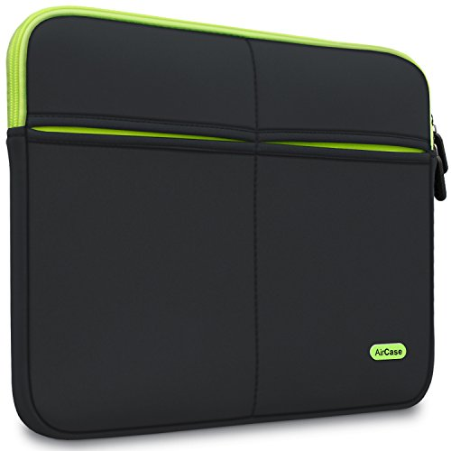 AirCase Laptop Bag Sleeve Case Cover for 13-Inch/ 13.3-Inch Laptop MacBook | 6-Multi Pockets (Black)