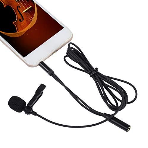 DAUERHAFT Aplicabilidad Profesional de 3,5 mm de Ancho Micrófono de Clip de Solapa útil de 3,5 mm Fácil de almacenar para teléfono móvil para micrófono