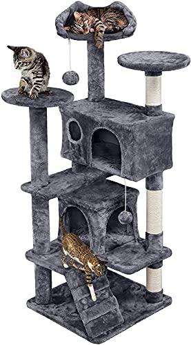 Yaheetech 138.5cm Cat Tree Tower Multilevel Cat Activity Tree Centre Cat...