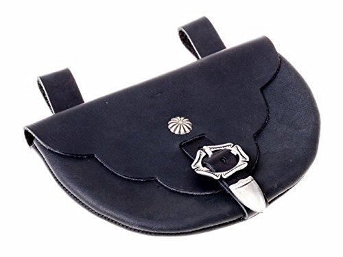Pera Peris Gürteltasche aus Leder nach dem Vorbild der Tasche von Runneburg aus dem 13. Jh. Farbe schwarz