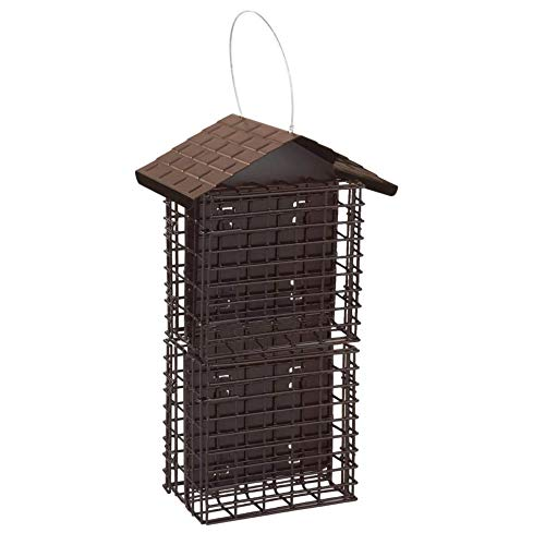 Stokes Select 38129 Cake Suet Buffet Bird Feeder with Metal Roof,...