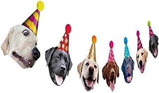 Dogs Birthday Garland, Funny Labrador Face Portrait Birthday Banner, Dog Bday Bunting Decoration