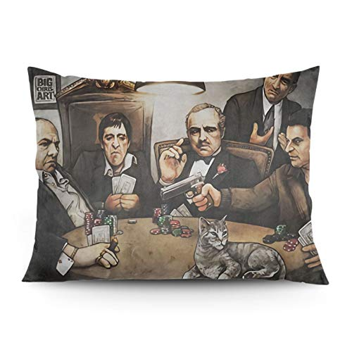 The Godfather Pillowcase, Cushion Cover, Decorative Pillowcase, Suitable for Home Bedroom, Sofa, Car, Living Room Decoration.