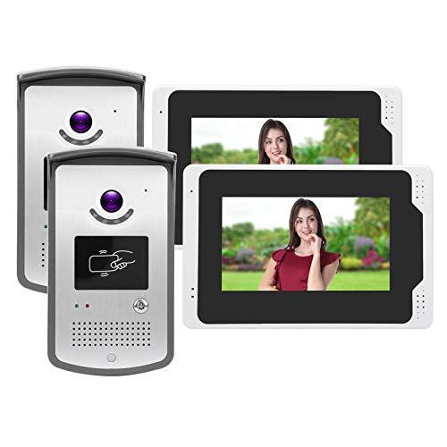 Cámara de visión Nocturna con Control Remoto, Pantalla LCD de Doble Lente, Timbre de Video Inteligente,(European regulations)