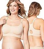 Cake Maternity Cotton Candy Wirefree Nursing Bra for Breastfeeding, Seamless Maternity Sleep Bra, Nude, X-Large