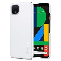 【Spigen】 Google Pixel 4 XL ケース 超軽量 超薄型 ハードケース スリム マット仕上げ 防塵 キズ防止 レンズ保護 指紋防止 ワイヤレス充電 Pixel 4 XLカバー シン・フィット F25CS27546 (ホワイト)