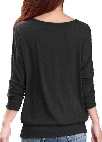 FreshTrend Anthra (Black Melange) Full Sleeve Round Neck Tshirt for Women