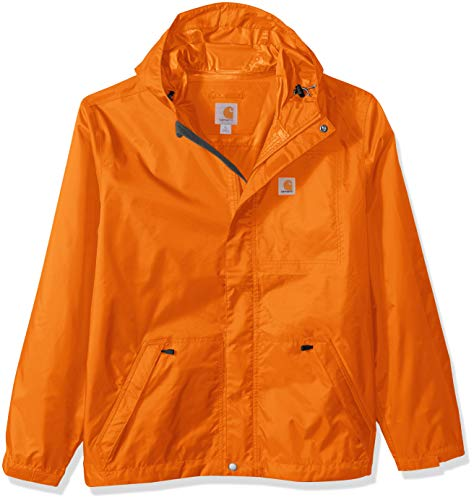 Carhartt Men's Big Big & Tall Dry Harbor Jacket, Bold Orange, 2X-Large/Tall