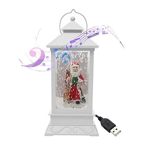 Linterna de Nieve Musical de Navidad Enchufe USB en Leds de batería LED Luces de Hadas Lámpara Papá Noel en Forma de iluminación Colgante (Color: c) DSB (Color : C)
