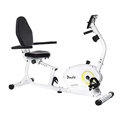 Recumbent Exercise Bike Stationary for Seniors and Adults, Doufit EB-02 Indoor Magnetic Exercise Bike for Home with 8 Resistance Levels and Adjustable Seat