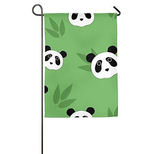 HujuTM Cute Pandas Home Garden Indoor/Outdoor Flags 18\