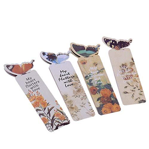PULABO Schmetterling Form lesezeichen niedlich Mini 3D Buch Mark schreibwaren lesezubehör Papier lesezeichen Buch label10 stück bequem und praktisch dauerhaft