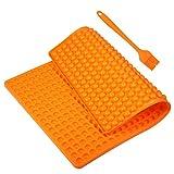 Yosemy Silikon Backmatte, 1 cm Halbkugel Backform für Hundekekse Hundeleckerlies, Hitzebeständig 240°C 40x28.5cm Lebensmittelecht (BPA-frei) Antihaft Mehrweg Backmatten