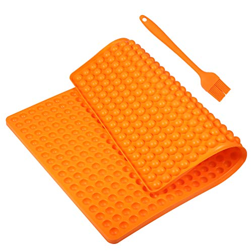 Yosemy Silikon Backmatte, 1.5cm Halbkugel Backform für Hundekekse Hundeleckerlies, Hitzebeständig 240°C 40x28.5cm Lebensmittelecht (BPA-frei) Antihaft Mehrweg Backmatten