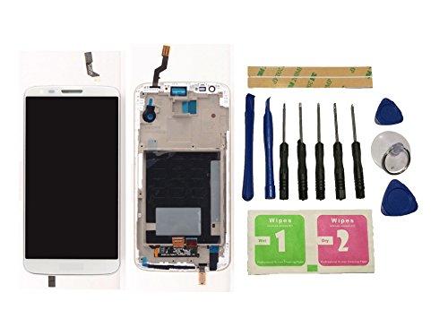 Flügel para LG Optimus G2 D802 Pantalla LCD pantalla Blanco Táctil digitalizador Completo Pantalla ( con marco ) de Recambio & Herramientas