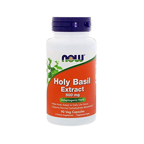 Now Foods, Holy Basil Extract, 500 mg, 90 vegane Kapseln, glutenfrei, sojafrei