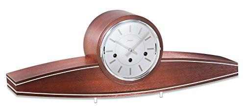 Kieninger Hochwertige mechanische Tischuhr mit Schlüsselaufzug 1281-22-01
