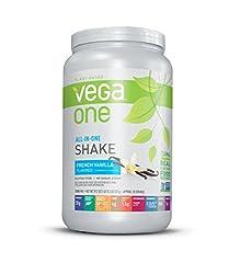 powerful Vega One All-in-One Nutritional Shake French Vanilla-Vegan Plant-Based Protein Powder, No …