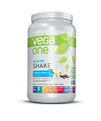 Vega One All in One Nutritional Shake French Vanilla - Plant Based Vegan Protein Powder, Non Dairy,