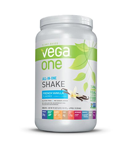 powerful Vega One All-in-One Nutritional Shake French Vanilla-Vegan Plant-Based Protein Powder, No …