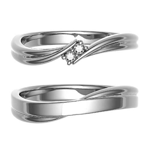 [ココカル]cococaru ペアリング 結婚指輪 K10ゴールド 2本セット マリッジリング ダイヤモンド 日本製(レディースサイズ11号 メンズサイズ19号)