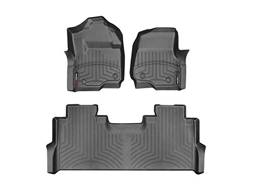 WeatherTech DigitalFit 441012-1-2 - First and Second Row All Weather Floor Liners for 2017 Ford F-250/F-350/F-450/F-550 SuperCrew (Black)