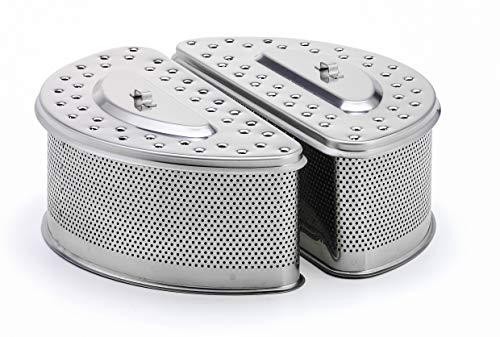 LotusGrill ® Ersatz-Kohlebehälter XXL aus Edelstahl - Speziell entwickelt für den raucharmen Holzkohlegrill XXL/Tischgrill XXL